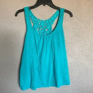 Tank Top racer back old navy blue lace